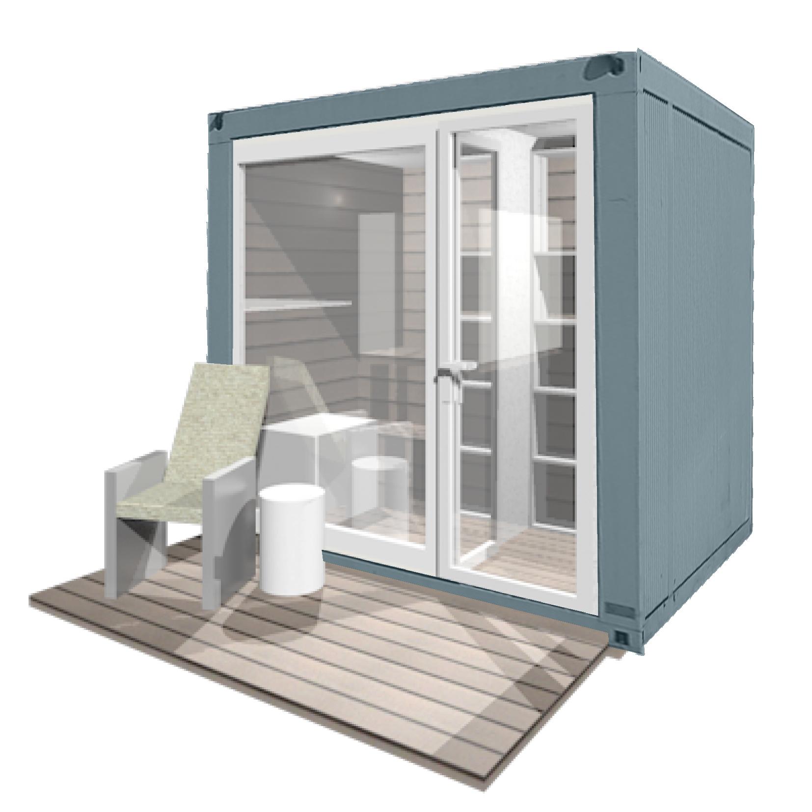 muw ag mobiles urbanes wohnen saunakoffer mini. Black Bedroom Furniture Sets. Home Design Ideas